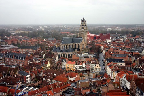 bruges from the bell tower | by dracisk