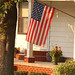 American Flag on small town home -- Farmersburg