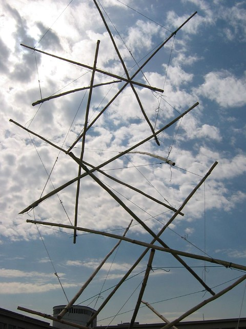 Tensegrity Tower Just A Little Bamboo Tensegrity Tower Fo Flickr