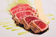 ahi tuna appetizer with wasabi and chili mayonaise | by -liyen-