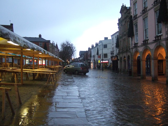 Extraordinarily wet chesterfield town centre flickr photo sharing