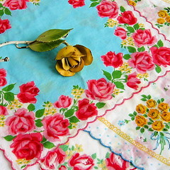 Vintage Rose Handkerchiefs | by Picnic by Ellie