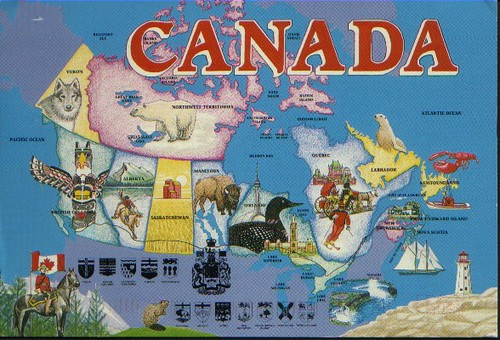 Canada Map 2 | Second map from Tam; this one is pre