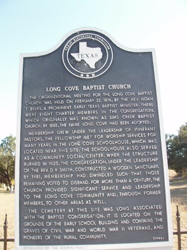 Long Cove Baptist Church The Organizational Meeting For