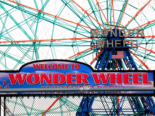 Wonder Wheel Entrance Sign | by ConeyHOP