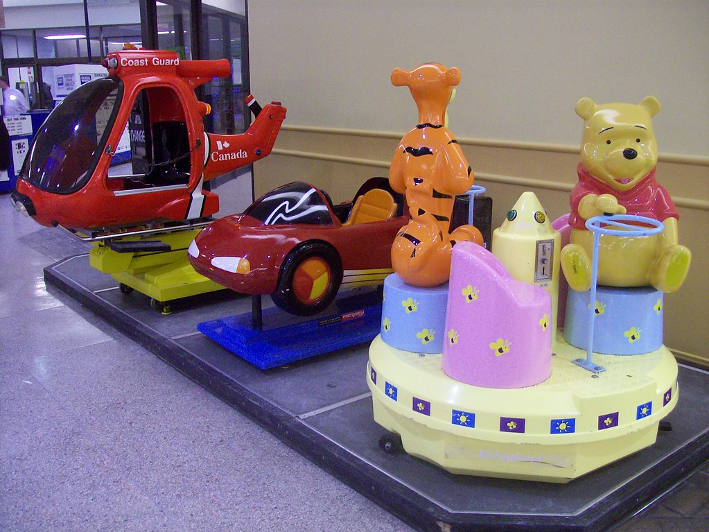 The New Children S Coin Operated Rides At Merivale Mall