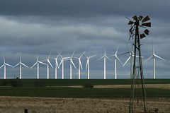 old windmill and wind turbines - explore | by Marvin Bredel