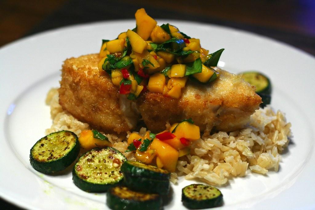 Halibut Mango Salsa Recipes Food Network