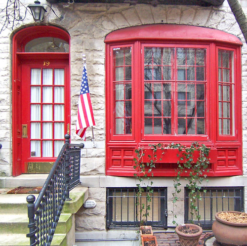 Red Door and Window | by Atelier Teee