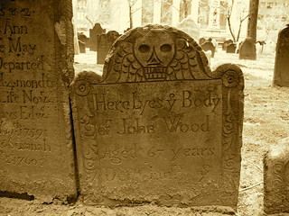 Death's head at the Trinity Church on Wall Street | by Trinity