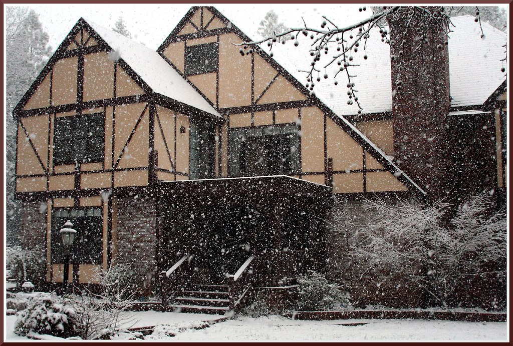 The Big House In Snow Photo Featured In Biofriendly