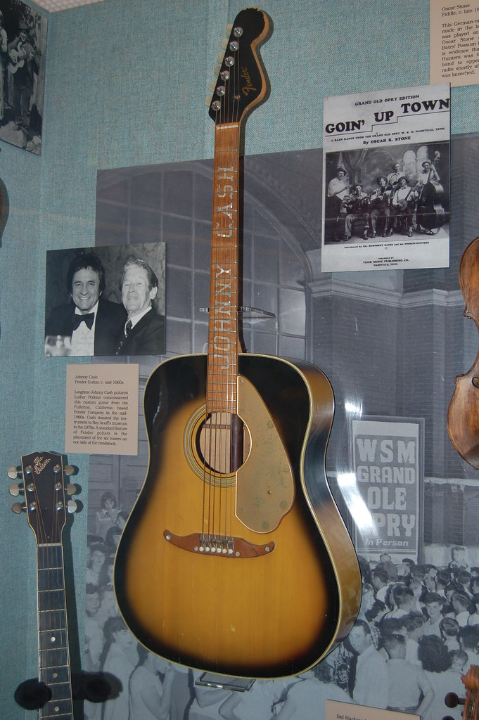 johnny cash 39 s guitar taken at the grand ole opry museum in flickr. Black Bedroom Furniture Sets. Home Design Ideas