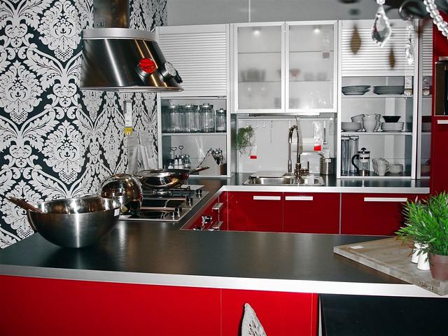 Grey Kitchens White Appliances Mosaic Backsplash