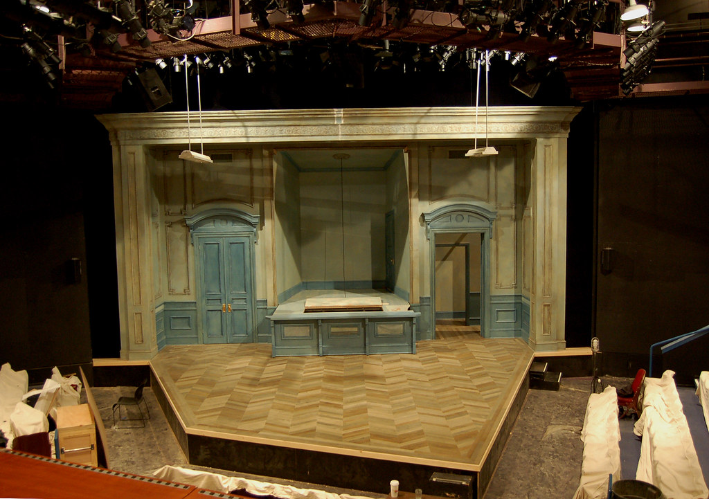 pillowman scenery installed on stage from a production