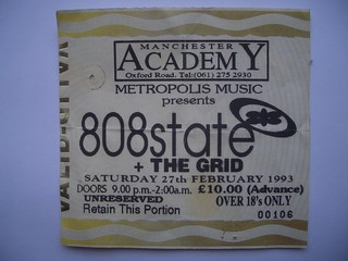 808 State @ Manchester Academy, 27th February 1993 @state808 #808state #6music1994 | by dullhunk