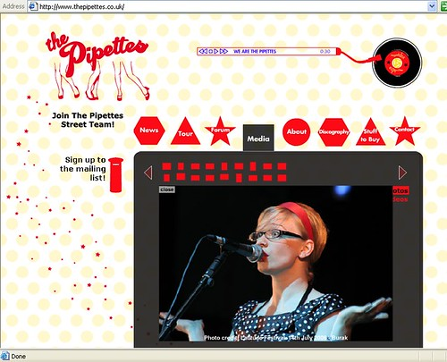 The Pipettes website | by Burak Cingi (youneedtoseethese)