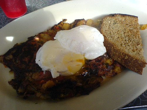 Corned Beef Hash with Poached Eggs | by clotilde