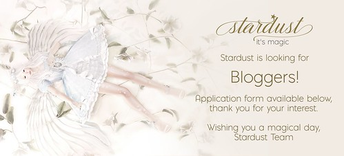 .Stardust is looking for Bloggers!. | by Jasmine * Stardust it's magic