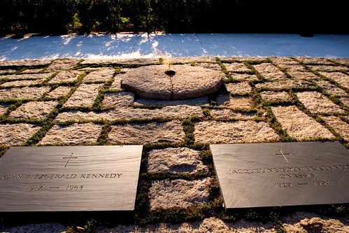 Jfk Grave Site On A Hill At The Arlington Overlooking