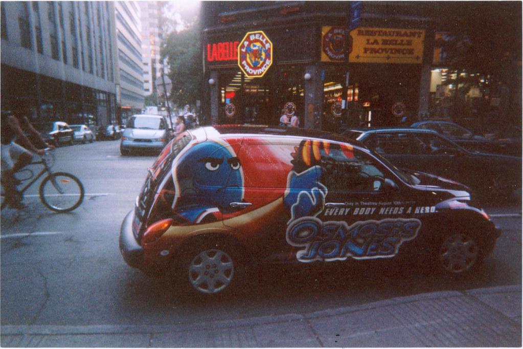 Cars 1 Full Movie >> A Chrysler PT Cruiser advertising the movie Osmosis Jones ...
