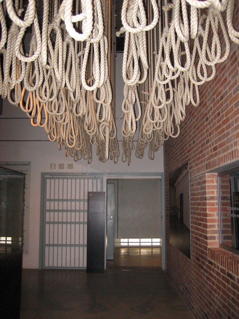 Apartheid Museum - Nooses   Nooses in the Apartheid Museum ...
