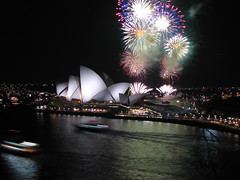fireworks over the Sydney Opera House | by nickherber