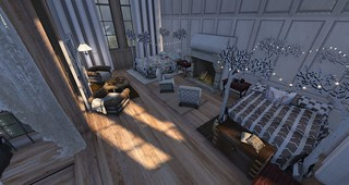 Master Bedroom-Beds for 2 | by Hidden Gems in Second Life (Interior Designer)