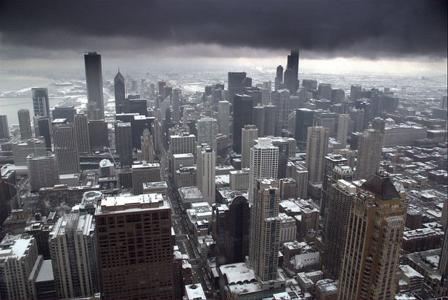 Chicago Cityscape Snowstorm This Was Awesome The Top