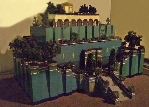 Model of the Hanging Gardens of Babylon | Photographed at ...