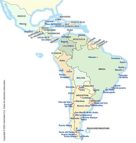 america latina mapa Mapa América Latina (Latin America map) | mapas_maps | Flickr america latina mapa