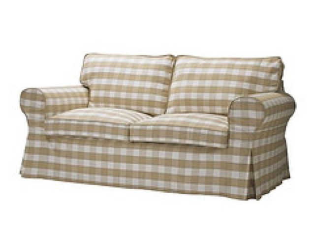 IKEA EKTORP Loveseat Sofa Slipcover BERGVIK BEIGE
