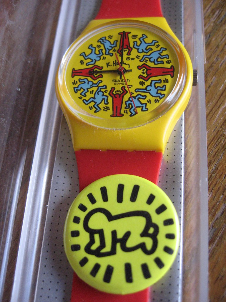 Keith Haring Swatch Amp Keith Haring Radiant Baby Pin Flickr