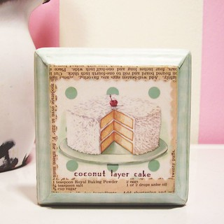 Coconut Layer Cake 4x4 Art Squared plaque | by holiday_jenny