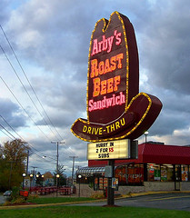 Arby's giant hat neon sign, Ashtabula, OH | by brianbutko