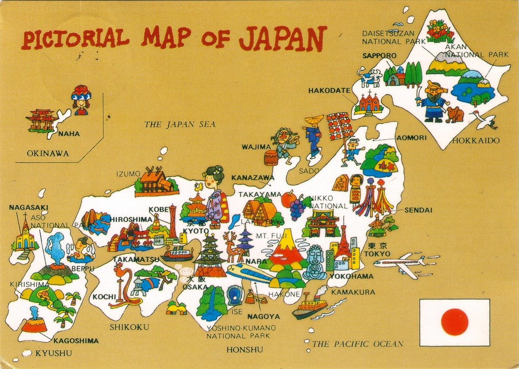 Pictorial map of Japan A Map of Japan may this be a goo Flickr