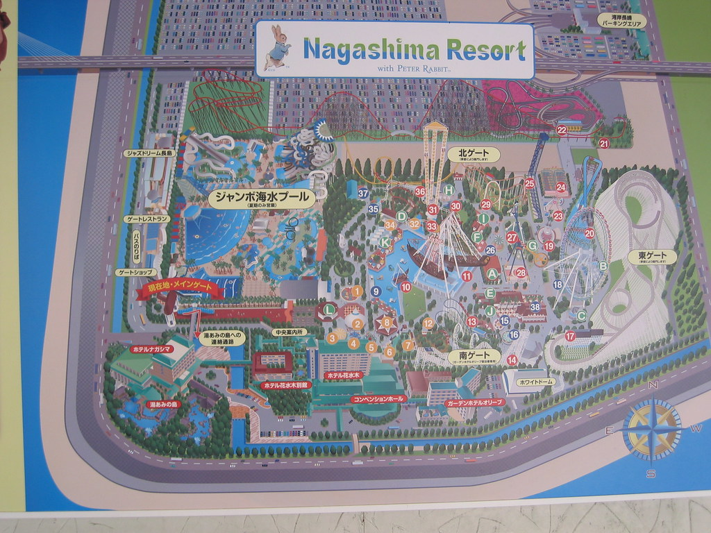 Nagashima Spa Land Map