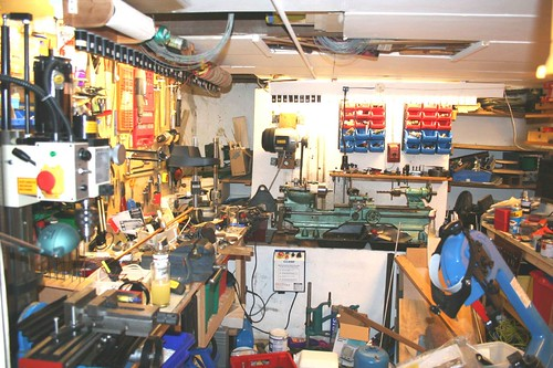garage to office conversion ideas - I Confess My Untidy Engineering Workshop