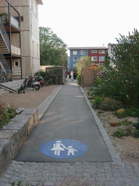 Walking path, Vauban, Freiburg, Germany