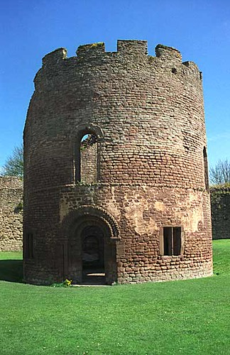 Round Keep At Ludlow Castle Shropshire England