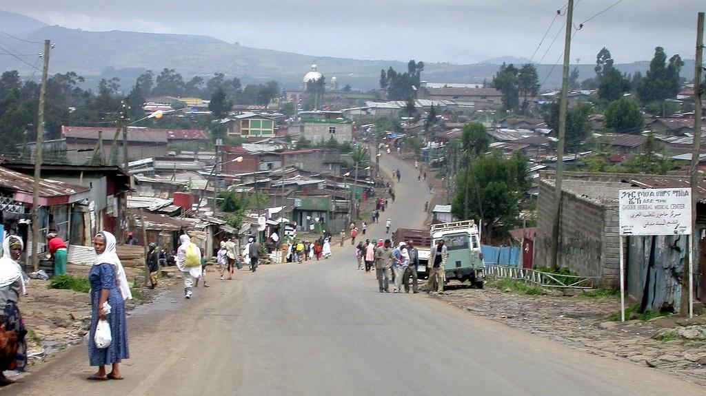 Un barrio-favela de Addis Abeba (Etiopía)