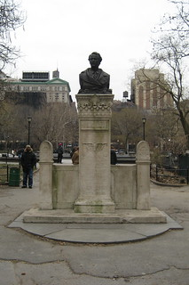 NYC - Greenwich Village: Washington Square Park - Alexander Lyman Holley bust | by wallyg