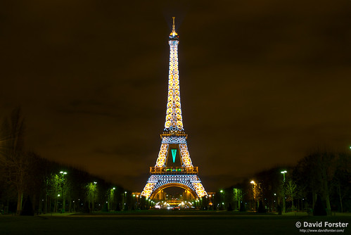 Eiffel Tower Lit Up For Christmas New Year David Forster