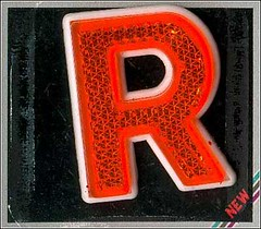 R - Reflective Letter | by niblog