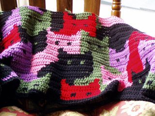 Cats Afghan This Cats Afghan is in progress. I love the ...