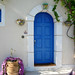 Blue Door in Kefalonia, Greece