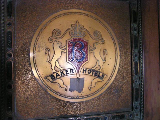 Baker Hotel elevator door