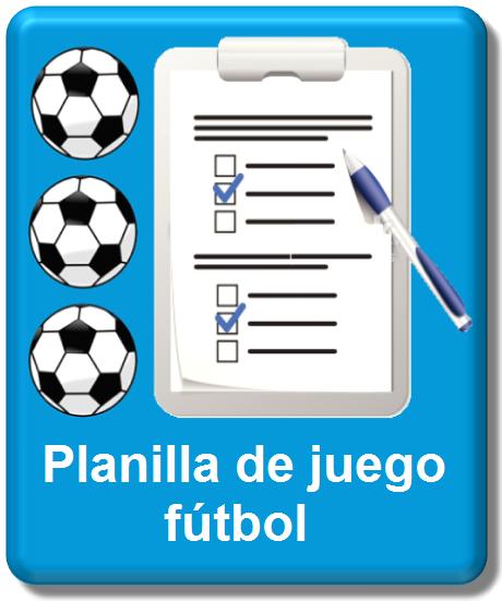 planila oficial de juego de fútbol