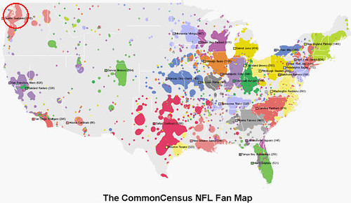 Seattle Seahawks Nfl Fan Map Common Census Clickable