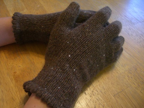 cashmere gloves modeled by me | by chanachang