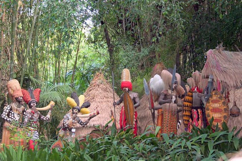 Jungle Cruise Natives Are Restless Scene From Disneyland